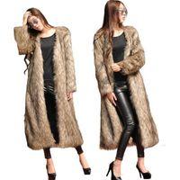 Pelliccia femminile Faux Womens Womens Cappotto Inverno Colori solidi Fluffy Fleece Manica Lunga Furry Casual Asian Taglia S-6XL