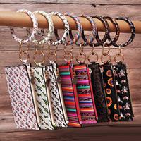 14 Styles de tournesol porte-clés Bracelet en cuir Wallet Cactus Imprimé O Monogrammed Porte-clés Porte-Monnaie Bracelet Femmes Portefeuilles Bangle