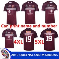 2019 MAROONS Rugby League Queensland 1819 QLD Maroons Malou Rugby jersey QLD Rugby 2018 2019 MAROONS JERSEY tamanho S-3XL-5XL (pode imprimir)