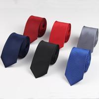 5 cm Dos Homens de Negócios Gravata Formal Listrado Jacquard Casamento Gravata Estreita Clássico Corbata Gravata Gravata