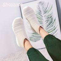 2019 Ayakkabı Kadın Casual Marka Ayakkabı Nefes yeni Yüksek üst Çorap Sneakers Scarpe Donna Krasovki Zapatillas Mujer Chaussure Femme