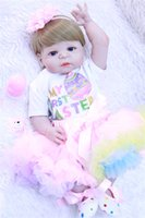 "22"" Full silicone reborn babies girl dolls bebe alive p..."