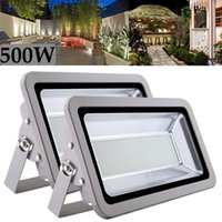 Floodlights 2pcs 500W LED Flood Light Cool White 110V Outdoor Spotlight Garden Yard Lamp IP65