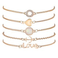 Großhandel europäischen und amerikanischen grenzüberschreitenden Accessoires beliebt Liebe Liebe Anker Armband Kombination wholesale1320