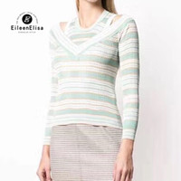 2019 Women Sweaters Pullovers Spring Striped Knitting Shirt ...
