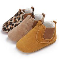 Осень ребенка малыша леопарда PU кожаная обувь новорожденный девочка впервые Уокер обувь малыш кроссовки свободного покроя обувь