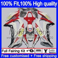Pour injection KAWASAKI ZX 10 R ZX1000 2011 2012 2013 2014 2015 blanc rouge 218MY.24 ZX 10R 1000CC ZX10R ZX10R 11 12 13 14 15 OEM carénages