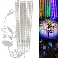 8 개 / 대 강설 LED 스트립 빛 크리스마스 조명 비 튜브 유성 샤워 비 LED 빛 튜브 100-240 볼트 EU / 미국 플러그