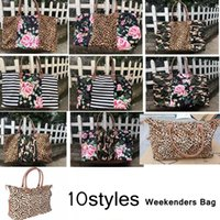 Striped Floral Leopard Seesack Travel Camouflage Camo Tote Patchwork Handtasche Doppelgriffe Sarah Weekenders Bag AAA2049