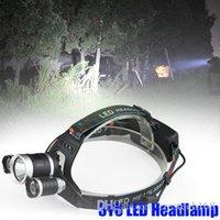 3T6 كشافات 6000 تجويف صغير 3 × T6 مصباح قوة عال LED كشافات رئيس الشعلة مصباح يدوي الرأس +شاحن