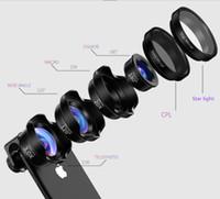 Téléphone mobile Lentille grand angle Quatre-en-un DSLR Universal Caméra externe HD Photographie Prise de vue de poisson Macro Photo Professionnel Trois-en-un