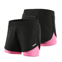 Arsuxeo Women' s 2- in- 1 Running Shorts Quick Drying Brea...