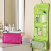 Roll-up vouwen reizen toilettas kit ondergoed opslag organizer make-up cosmetische tas waszak gratis verzending