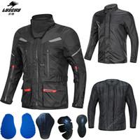 Giacca LYSCHY Moto Pantalone Body Armor Mantenere caldo impermeabile strato di rivestimento di guida da corsa di motocross con il collare caldo del CE protezione per Komine
