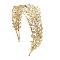 Diosa griega cabello tiara nupcial oliva corona diadema dorado hoja rama dureza plateado romano boda joyería accesorios para mujeres