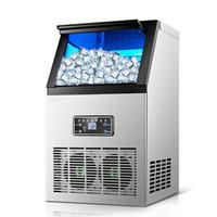 Machine de fabrication de glace automatique Cube commercial Cube machine à glaçons petites entreprises Machine à balles de glace pour lait à thé de lait Café