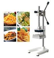 Las patatas fritas patatas fritas francesas cortador máquina de corte de 6 mm 9 mm de 13 mm de acero inoxidable vegetal fruta del alimento de la zanahoria de corte para la cocina