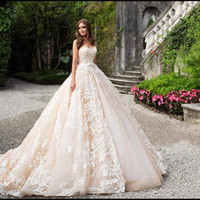 Amanda Novias Hot Sale Strapless Sweetheart Lace Ball Gown w...