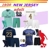 19 20 Real Madrid HAZARD soccer jersey adult kit uniforms 20...