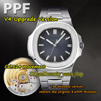 Eternity 2021 PPF V4 ترقية النسخة THK 8.6MM 5711 1A 010 CAL.324 S C Automatic Mens Watch Dial Blue Dial Sapphire Steel-Case Sport-Watches