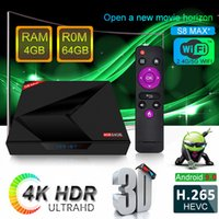 S8 Max Plus Android 9. 0 TV Box RK3228 Quad Core 4GB 64GB 2. 4...
