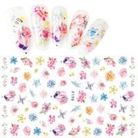 Mischkarikatur-Blumen-Nagel-Aufkleber Wassertransfer Nagel Abziehbilder Kunst spitzt Dekoration Maniküre Aufkleber Kinder Aufkleber