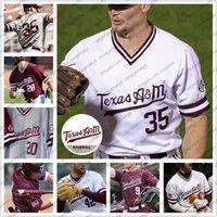 Benutzerdefinierte 2020 Texas am Aggies Baseball # 35 Asa Lacy 23 Christian Roa 9 Zach Delaachs 42 Jake Nelson Männer Jugend Kind Jersey 4XL
