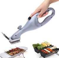 Churrasco de aço inoxidável escova de limpeza de limpeza ao ar livre com ferramentas de energia a vapor Cozinhar acessórios de limpeza KKA7903
