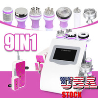 US Stock 9 En 1 Cavitation Cryo thérapie RF vide Photon Laser Led Amincissant Fat Burning rides enlèvement beauté machine