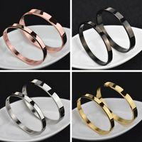 Titanio Acciaio Uomini donne Rose braccialetto d'argento braccialetto amante al progettista dell'oro Uomini Bangles donne di lusso dei monili del braccialetto coppia