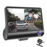 3 카메라 자동차 DVR 4 인치 IPS 대시 캠 3 웨이 고속 풀 HD 1080P 운전 DVR DVR 듀얼 렌즈 특별 레코더 여행