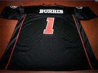 Benutzerdefinierte Männer Jugend Frauen Jahrgang Ottawa RedBlacks # 1 Henry Burris Fußball-Jersey-Größe s-5XL oder benutzerdefinierten beliebigen Namen oder Nummer Jersey