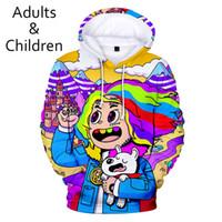 3D 6IX9INE Hoodies Hombres Mujeres Sudaderas con capucha para niños Harajuku Otoño Nueva 3D imprimir suéteres casuales 6IX9INE con capucha Hombres Mujeres