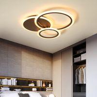 أبيض / براون الإضاءة الحديثة بقيادة الثريا لغرفة النوم غرفة المعيشة معدن + الاكريليك بريق luminaria lampadario الثريا السقف