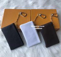 Vendita calda con scatola arancione PORTACHIAVI Vera pelle Famoso designer classico Portachiavi Borsa portamonete Borsa piccola pelletteria