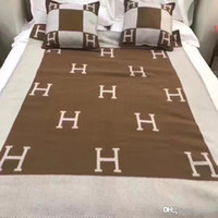 Printed H Blanket Fashion Wool Blanket for Home Tide Brand S...