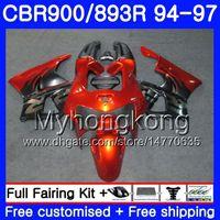 Kit för Honda CBR900RR CBR 893RR 1994 1995 1996 1997 Body 260HM.34 CBR 893 CBR900 RR CBR893 RR Orange Silver CBR893RR 94 95 96 97 FAIRING