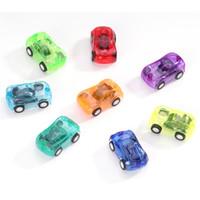 Großhandel Mini Kunststoff transparent Zug zurück Auto Osterei Füller Niedlichen Kunststoff Auto Spielzeug für Förderung Geschenke