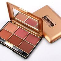 Mineral de 6 Paleta de color de colorete Blush Moda Profesional de maquillaje de la cara de América del Sur y Aisa Colores Miss Rose