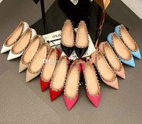 продажа! 34/40 натуральная кожа v шпилька балерина квартиры синий черный ню красный желтые розы розовый роскошь дизайнер взлетно-посадочной полосы классический моды женщин