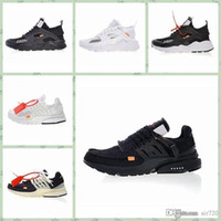 Nike Off Huarache Vapors Fly 2.0 II Knit Mens Shoes Off West VPM Designer Leisure Shoes Nero Bianco Casual Sneaker traspirante Taglia US5,5-11