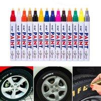 Coloré Pen étanche pneu de voiture de pneu, CD métal marqueurs permanents de peinture Graffiti Grasses Marker Pen Car Styling