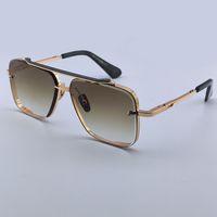 Мужчины бренд дизайнер солнцезащитные очки мода солнцезащитные очки роскошный золотой храм вите старинные рамки квадратные металлические формы женские мужчины без какого-то классические очки очки 121