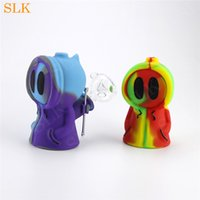 Bubbler Ghost SILICLAB breveté avec une tige en silicone et un bol en verre de 14mm fumer des pipes
