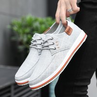 2019 new Summer male lace- up Canvas shoes man Rubber sole ma...