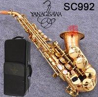 Giappone di marca curvo sassofono YANAGISAWA SC-992 strumento B Phosphor Bronze di rame Sax Soprano professionale musicale con il caso