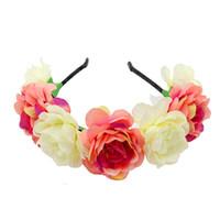 Frauen Boho Blumenblumen-Crown-künstliche Blumen-Stirnband-Haar-Zusätze Garland Hochzeit Haarband-Qualitäts-Kopfband