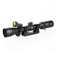 FLY SHARK Tactical 3x-9x40 Rifle Âmbito 1 polegada tubo preto com Red Dot Sight Para exterior Caça CL1-0402