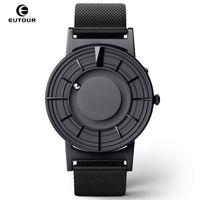 EUTOUR Magnetic Mens Watch Quartz Man Mulheres relógios Bola Mostrar tipos cintas de pulso Moda Casual Relógios erkek kol saati 2019