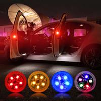 Spia lampeggiante della portiera della lampada LED Lampeggiatore automatico Stroboscopico Luce rossa della portiera della macchina Controllo anticollisione Controllo magnetico Auto-styling